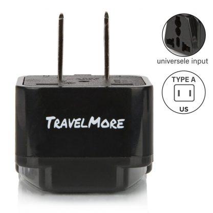 Type A - Reisstekker Amerika - USA - VS - 4 pack
